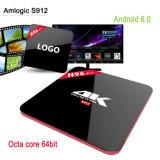FAVORABLE 4k Kodi TV rectángulo androide al por mayor de Amlogic S912 H96