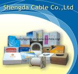 RG6 con el cable coaxial del CCTV de la seguridad de dos alambres de la potencia