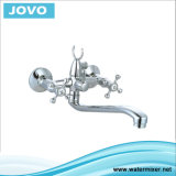 La porcelaine sanitaire double poignée Hot Sale 74102 Bath-Shower Faucet JV
