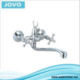 Sanitaire de bad-Douche van de Verkoop van het Handvat van Waren Dubbele Hete Jv 74102 van de Tapkraan