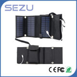 Sacchetto piegante di alta qualità del caricatore a energia solare portatile esterno lungo di orario di lavoro 5W (il nero)