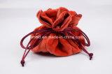 Bolsa suave del embalaje de la joyería de las redes del satén seises de la felpa