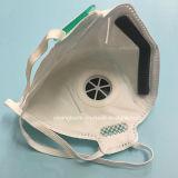 Respirador plegable no tejido del polvo de la dimensión de una variable N95 con la válvula