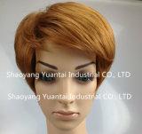 Peluca sintetizada teñida del pelo del color brillante para la sensación del pelo humano de la mujer