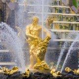 Outdoor Grand Sculpture rempli d'or de statues de bronze