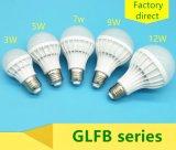 bulbo plástico de 3W LED
