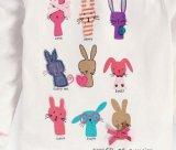 Camiseta linda del bebé con la funda larga en la ropa Sq-17106 de los niños del O-Cuello