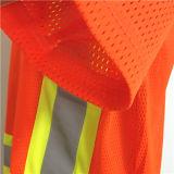 Glänzende orange Sicherheits-Arbeitskleidung mit hohem Sicht-Band