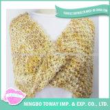 Melhor preço Boucle Hand Knitting Polyester Spun Yarn