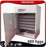 Incubatrice automatica piena dell'uovo del pollo del pollame con le cremagliere mobili