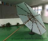 신제품, 환경 보호 물자, 목제 양산, 휴대용 줄무늬 여가