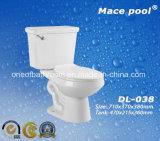 Toletta a due pezzi di ceramica di Siphonic degli articoli sanitari di ceramica (DL-038)