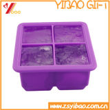 Los utensilios de cocina hacen hacen 4 cubos grandes adicionales la bandeja cuadrada del cubo de hielo del silicón