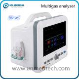 Tablero de la mesa analizador de gas multi de la anestesia de 7 pulgadas para el uso veterinario
