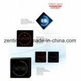 Marco de aleación de aluminio LED reloj de pared digital con diferentes colores para la decoración del hogar