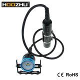 Hoozhu Hv33 vier video helle maximale 4000lm Unterwasser100m LED Taschenlampe Farben-des hellen Kanister-Tauchens-