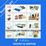 Tratamiento superficial anodizado populares de perfil de aluminio de aluminio