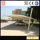 Sun-Farbton-Stahlauto-Parken-Zelt-Metallautoparkplätze mit wasserdichtem Blatt-Dach für Auto