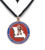 Médaille faite sur commande en gros de souvenir avec la lanière