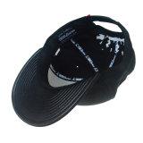 Broderie personnalisée de façon réglable de coton noir Casquette de baseball