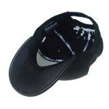 Custom moda ajustable negro bordado de algodón gorra de béisbol