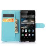 Caja de la carpeta del cuero del teléfono premium Muti-Colores de la PU para Huawei P9