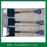 Pala que cultiva la espada de madera de la pala de la maneta de la herramienta con el apretón plástico