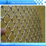 Maglia unita nera del quadrato della rete metallica del filo di acciaio
