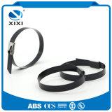 Serres-câble enduits d'acier inoxydable de nylon coté d'UL