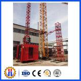 Gru della costruzione della costruzione della Doppio-Gabbia di Sc200/200-2ton con velocità