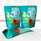El SGS aprobado se levanta el empaquetado plástico Ziplock para el alimento de bocado