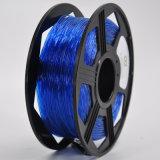 플라스틱 로드 3mm 유연한 3D 인쇄 기계 필라멘트 파랑 색깔