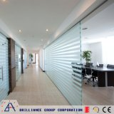 Escritório moderno parede divisória de vidro de alumínio