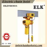 Grue électrique d'élévateur à chaînes de la CE des élans 3ton avec le levage manuel de Trolley-3chains pour le moulage