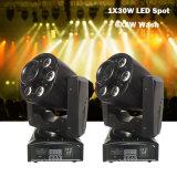新しいデザイン30W白+ 6*8W RGBW 4in1 LEDの移動ヘッドライト(Spot+Wash)