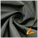 agua de 40d 290t y de la manera de la chaqueta tela catiónica tejida chaqueta Viento-Resistente 100% del filamento del hilado del poliester del telar jacquar de la tela escocesa abajo (X031H)