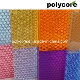 """Panneau """"sandwich"""" décoratif de nid d'abeilles de polycarbonate"""