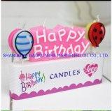 Candela di compleanno della paraffina, candela della cera, candela di compleanno