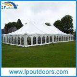 Tente blanche extérieure de Pôle de cheville de mariage de PVC de bâti en acier pour l'événement