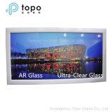 Vidrio Anti-Reflexivo Tempered/endurecido ultra claro para el edificio (AR-TP)