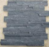 Черные серые плитки мозаики базальта