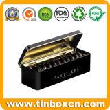 Прямоугольное олово печенья шоколада для еды металла может упаковывая коробка