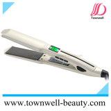 Profissional 450&deg do salão de beleza; Straightener do cabelo de F com prata Nano de Coreia e o revestimento cerâmico do Tourmaline