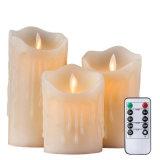 Lágrima en forma de onda sin Flama Velas LED con temporizador y a distancia de 10 teclas