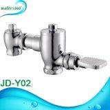 El ahorro de agua Pedal de latón cromado wc Válvula de descarga