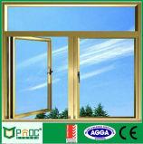 Het Ontwerp van het Venster van Pnoc, Gordijnstof, de Gehangen, Overspannen, Vaste Fabrikant van het Venster van het Glas van het Aluminium