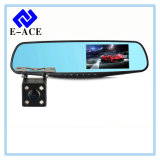 FHD 1080P Dual Lens Car DVR com display do lado direito