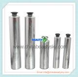 Haut-Sorgfalt-verpackenhandsahne, die leeres zusammenklappbares Aluminiumbehälter-Gefäß beschriftet
