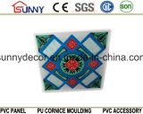 Panneau imperméable à l'eau de PVC pour des tuiles de mur et de plafond avec 595/600/603mm de estampage chauds