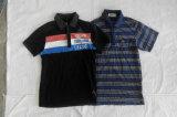 Vêtements utilisés par T-shirt crème superbe en gros en bloc d'hommes de chemise de circuit de type de l'Australie de Chine